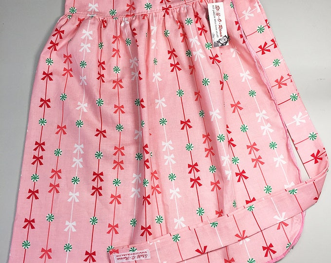 Half Apron - Vintage Pin Up Skirt Style - Christmas Holiday Sweets