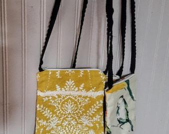 Yellow mini crossbody bag