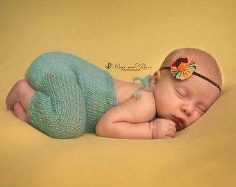 Mohair Romper, Baby Overalls, Long Pants, Newborn Photo Props