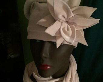Velvet Hat-Women's Gift-Dressy Hat-Satin Lined-Customer Favorite-Ivory Cream