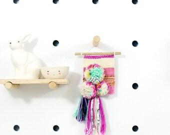 betsy    .. mini wall hanging, weave, woven, wall art, wall decor, nursery art decor, home, living wall art,
