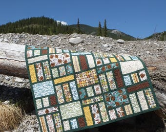 Kananaskis - a quilt pattern, PDF download, beginner quilt pattern, easy quilt pattern