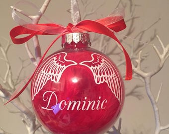 Wings Memorial Christmas Bauble