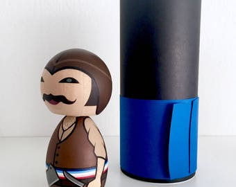 Bill the Butcher kokeshi doll. Limited edition. Free domestic shipping!