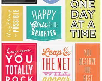 Mambi Create 365 Show Up - Get It Done Stickers - The Happy Planner, Diary, Craft, Plan, Daily, Motivate, Inspire 5/Shts