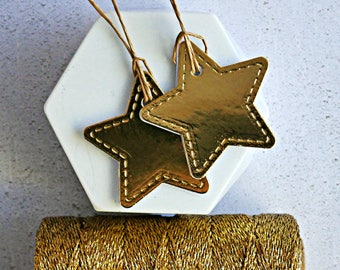 Gold Star Tags {10} | Gold Chrome Tags | Gold Chrome Stars | Chrome Star Tags | Christmas in July