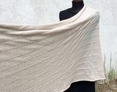 Shawl Wrap Merino Wool - Custom made  Scarf Knitwear Escharpe chale schal