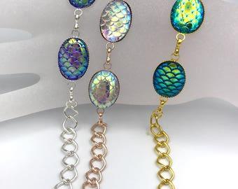 Mermaid bracelet, Mermaid scales bracelet or anklet , ankle bracelet mermaid jewelry, beach bracelet, aqua mermaid scales