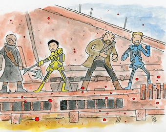 Romulan drilling platform throw down - illustration inspired by the Star Trek 2009