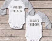Gift for Twins, Twin Gift, Twins Sets, Twins Shirts, Identical Twins Shirts, Twin Boys, Twin Babies, Baby Shower Gift, Newborn Twins GIft