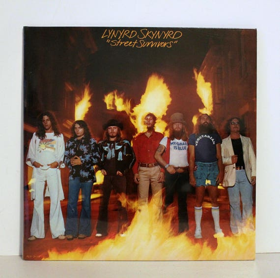 Original Lynyrd Skynyrd Street Survivors LP G/F Sealed NOS with Flame Cover