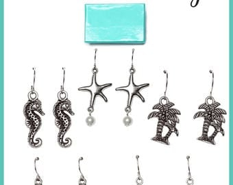 Beach Charm Earrings-Choose Your Design