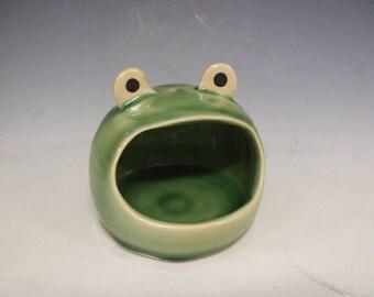 Frog Salt Pig-Salt Cellar by misunrie