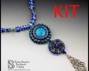 KIT- Vespers Beaded Necklace Blue