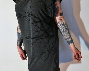 Hell Couture Lavinia Charcoal Slouch Tunic Dress