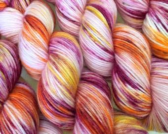 DK YARN Hand Dyed 100% Merino Superwash Wool - Tropicana