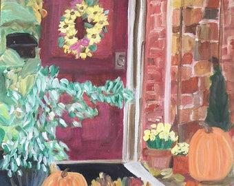 Autumn Doorway 16x20