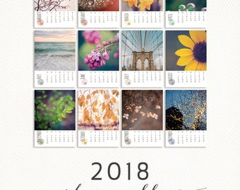 2018 calendar (base not included) / 2018 desk calendar, calendar refill, photo calendar, nature photography, travel photography calendar