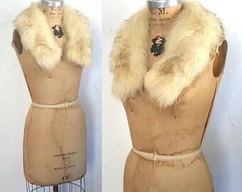 SALE Both done...Genuine Fox Fur Collar / Small