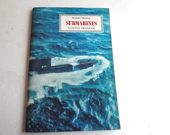 Vintage Submarines Booklet From the Science Service Program 1966 Good Condition 5 Photo Stickers