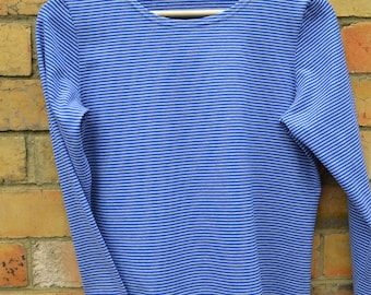 Royal stripe Cotton Lycra T