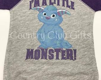 I'm a little monster shirt, baseball shirt. bodysuit shirt, baby gift, Monster baby, halloween, Monster shirt