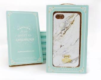 Marble Phone Case iPhone 8 Polished Calacatta Print, iPhone X, iPhone 7 Plus