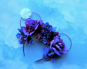 Anna inspired Mickey Mouse Ears   Flower Crown Mickey Ears
