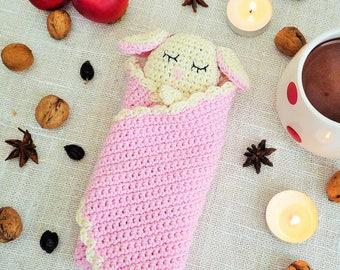 Sheep Baby Blanket - Sheep Baby Lovey - Lamb Blanket - Security Blanket - Crochet Blanket - Pink Blanket - Gift for Baby - Sheep Gift