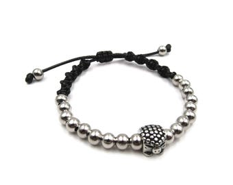 NEW Hedgehog Stainless Steel Beaded Woven Bracelet - Custom Sizing Available
