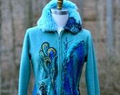 Custom sweater Coat for Karen. Peacock Fantasy Coat