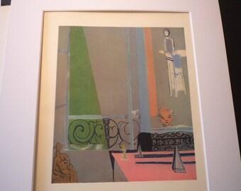 Vintage Print - Matisse - The Piano 1916 - Fine Art Book Plate - art ephemera gift for art lovers modern art - impressionist
