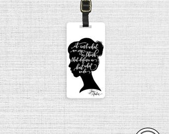Luggage Tag Jane Austen What Defines Us Quote Metal Luggage Tag  Personalized Custom Single Tag