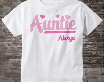 Auntie Shirt - Pink Script Aunt t-shirt - New Aunt Gift - 11102015g