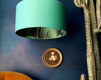 Cole & Son Palm Jungle Silhouette Lampshade in Jade