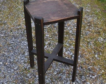 Vintage Mission Plant Stand - Craftsman Stand