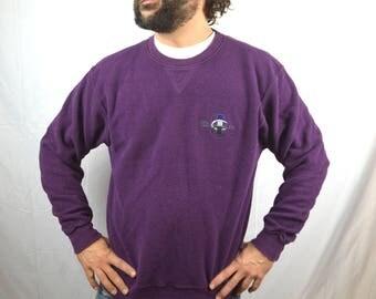 Vintage 1980s 90s Champion Logo Blue Sweatshirt