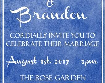 "Wedding 5""x7"" Custom Party Invitation Digital Printable"