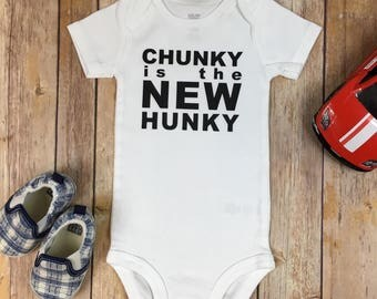 Chunky is the New Hunky Baby Outfit / Infant Bodysuit / Hunky Outfit / Baby Boy / Funny Outfit / New Baby / Baby Boy Outfit / Hunky Bodysuit