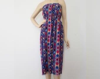 S - Strapless Beachy Dress | Summer Dress | Small Dress | Beach Dress | Tropical Dress | Vacation Dress