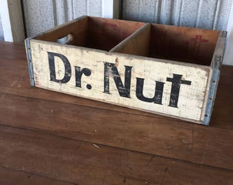 Vintage Dr. Nut Soda Crate - Wood Crate (#3002)
