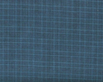Blue Plaid Yarn Dye 100% Cotton Quilt Fabric for Sale, Kim Diehl's Helping Hands Yarn Dyes Collection, HEG6885Y-77