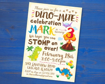 Dinosaur Birthday Invite (Printable PDF)