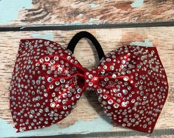 Fullout Rhinestone Tailless Cheer Bow with