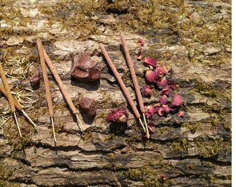 All Natural Incense - New Scent Sample Pack - Rose, Dragon's Blood & Rosemary - Limited Time Only! - 3 Scents/6 Sticks