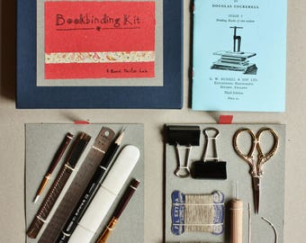 Bookbinding kit, Gift Bookbinding kit, Basic bookbinding tool, DIY Bookbinding, Bindinging toolkit, Notebook Kit, Father's Day Gift