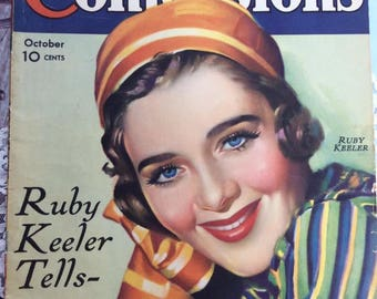 Vintage October 1934 True Confessions Magazine 74 Pages Articles On Movie Stars Great Advertising Some Fashion