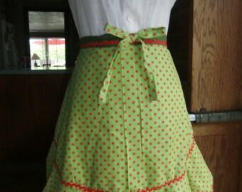 Lady Lime Handmade Half Apron