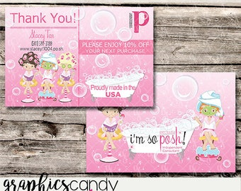 Perfectly Posh Thank You Postcard / Marketing / - Postcard Size - Multi Level Marketing - MLM - Free Shipping USA ONLY!