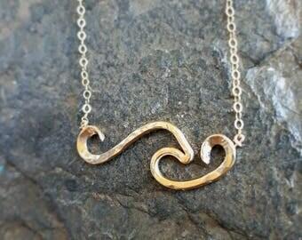 Wave Necklace 14 Karat Gold Filled